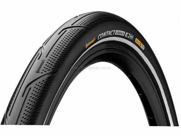 "Continental Contact Urban TR Tyre 700c, 1.5"", 1.6"", Black, Rigid, 700c, Steel, Rubber, 720g"