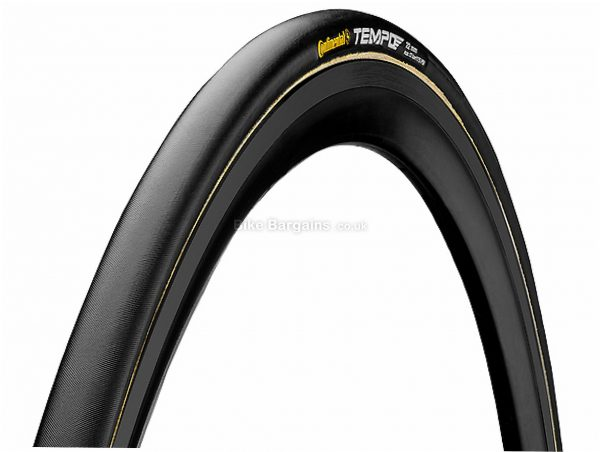 Continental Tempo II Tubular Track Tyre 700c, 21c, Black, 180g, Rubber
