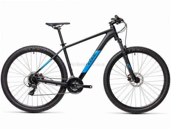 "Cube Aim Pro 29 Alloy Hardtail Mountain Bike 2021 21"", Black, Blue, Alloy Frame, 24 Speed, Disc Brakes, 29"" Wheels, Triple Chainring, Hardtail, 14.4kg"