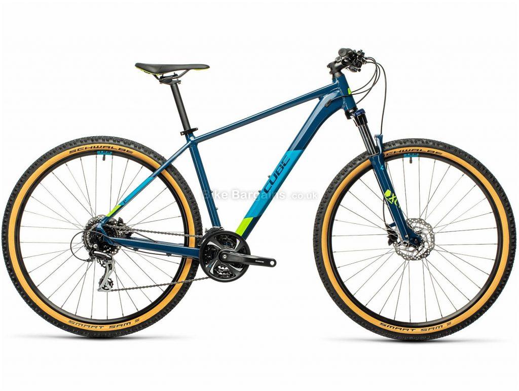 "Cube Aim Race 27.5 Alloy Hardtail Mountain Bike 2021 16"", Blue, Alloy Frame, 24 Speed, Disc Brakes, 27.5"" Wheels, Triple Chainring, Hardtail, 14.3kg"