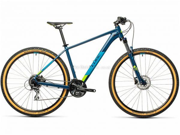 "Cube Aim Race 29 Alloy Hardtail Mountain Bike 2021 21"", Blue, Grey, Alloy Frame, 24 Speed, Disc Brakes, 29"" Wheels, Triple Chainring, Hardtail, 14.3kg"