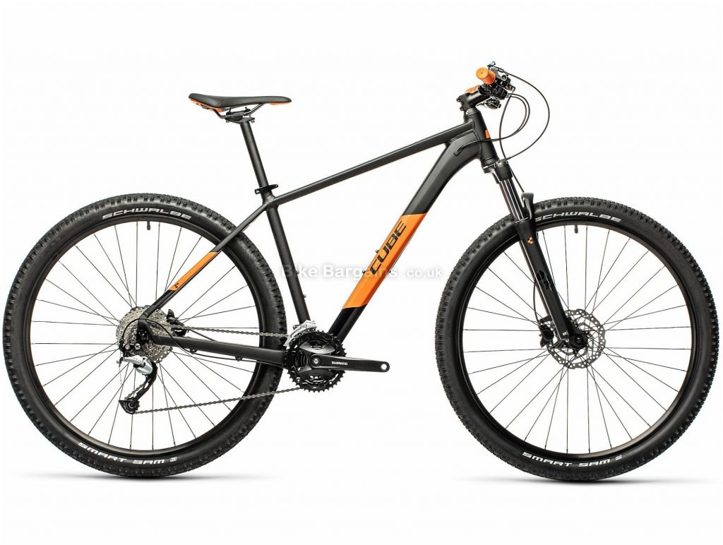 "Cube Aim SL 29 Allroad Alloy Hardtail Mountain Bike 2021 19"", 23"", Grey, Green, Alloy Frame, 27 Speed, Disc Brakes, 29"" Wheels, Triple Chainring, Hardtail, 16.7kg"
