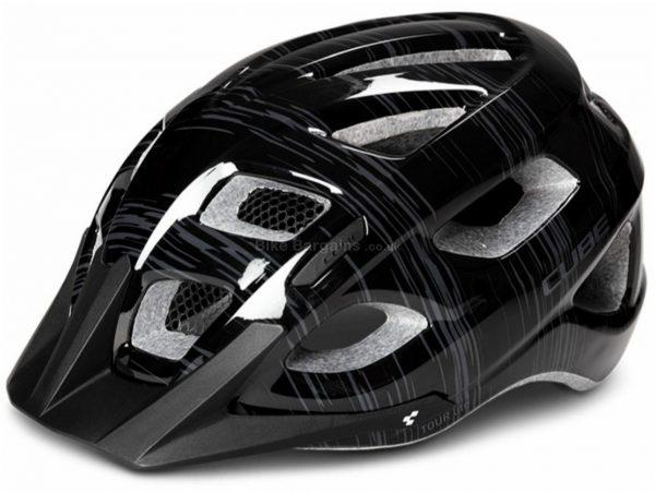 Cube Tour Lite Helmet S, Black, Unisex, 20 vents, 280g, Polycarbonate