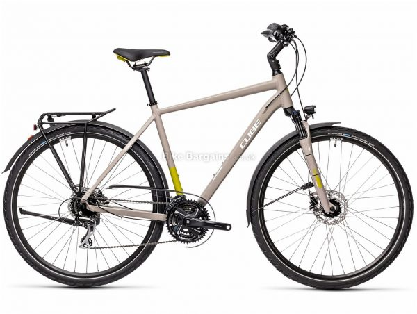 """Cube Touring Pro Alloy City Bike 2021 24"""", Grey, Green, Alloy Frame, 24 Speed, Disc Brakes, 700c Wheels, Triple Chainring, 17.1kg"""