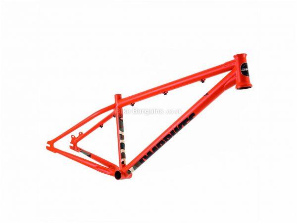 """DMR Sect 2 Steel Dirt Jump Frame 12"""", Red, Black, 24"""", Steel Frame, Disc, Rigid, 2.37kg"""