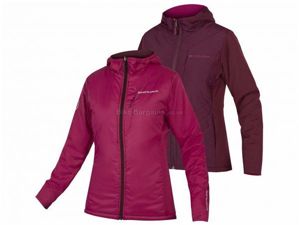 Endura Ladies Urban Primaloft Flipjak II Jacket S,L, Purple, Ladies, Long Sleeve, Nylon, Elastane