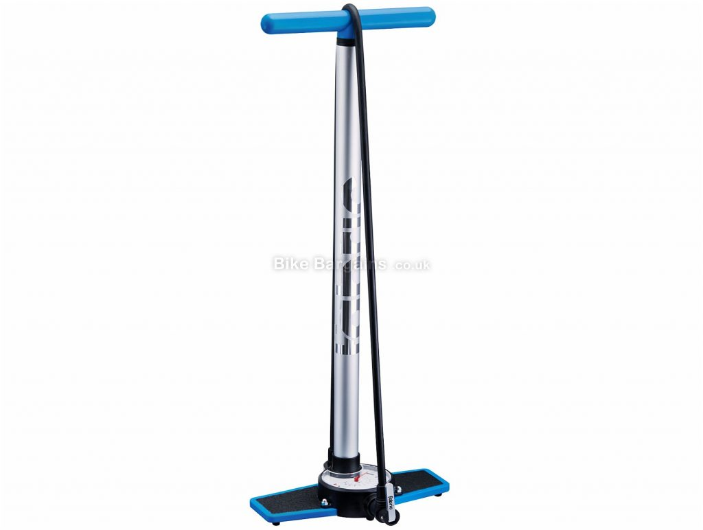 Fabric Stratosphere Race Track Pump Silver, 140psi, 635mm, Presta, Schrader, Track Pump, Nylon, Alloy, Rubber