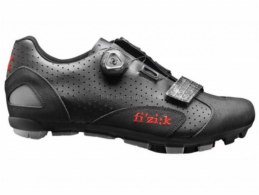 Fizik M5B Uomo MTB Shoes 48, Black, Men's, Boa & Velcro Fastening, 360g, Carbon, Nylon, Rubber