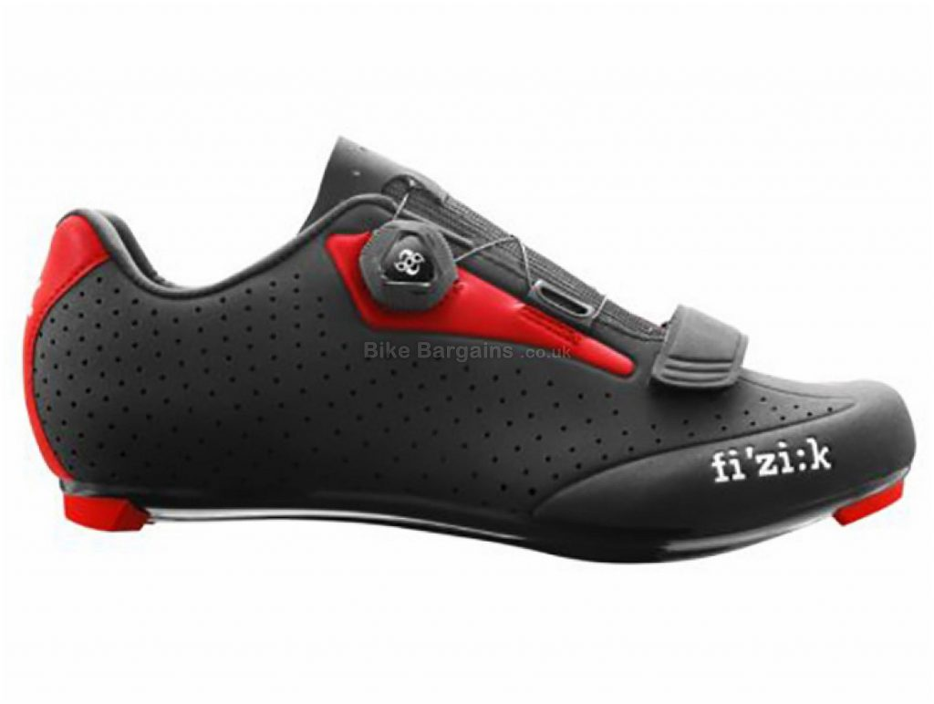 Fizik R5 Uomo Boa Road Shoes 39, Black, Red, Men's, Boa & Velcro Fastening, 260g, Carbon, Nylon, Rubber