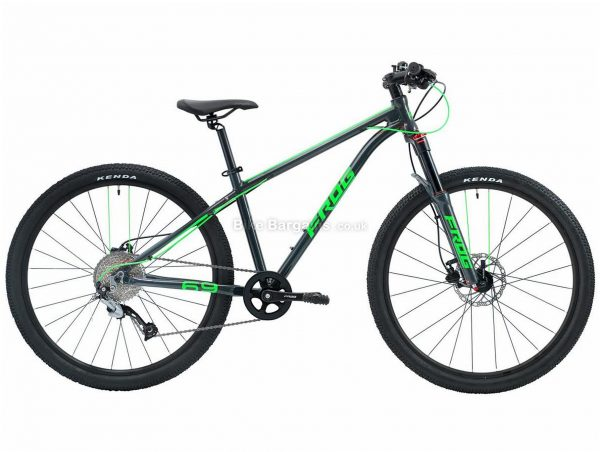 """Frog 69 Alloy Kids Mountain Bike One Size, Black, Red, 26"""" wheels, Alloy Frame, 9 Speed, Single Chainring, Disc, 11.4kg"""