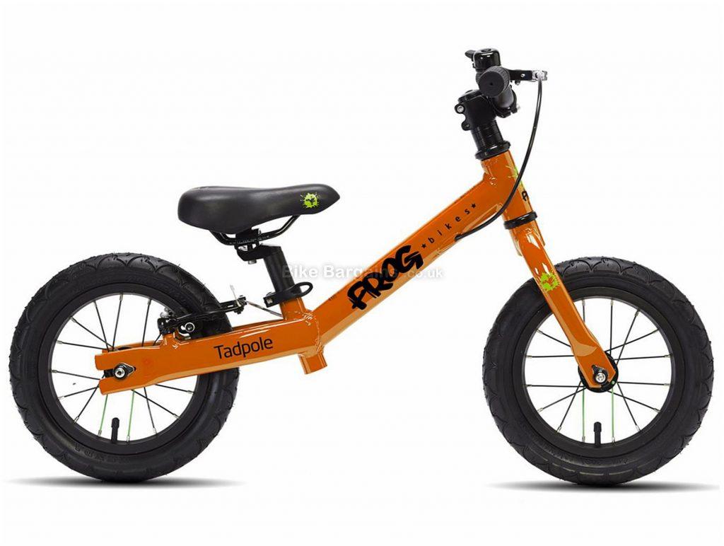 """Frog Tadpole Alloy Kids Balance Bike 4"""", White, 12"""" wheels, Alloy Frame, Caliper Brakes"""