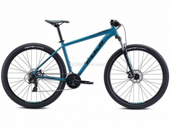 "Fuji Nevada 29 1.9 Alloy Hardtail Mountain Bike 2021 17"",21"", Grey, Blue, Alloy Frame, 21 Speed, Disc Brakes, 29"" Wheels, Triple Chainring, Hardtail"