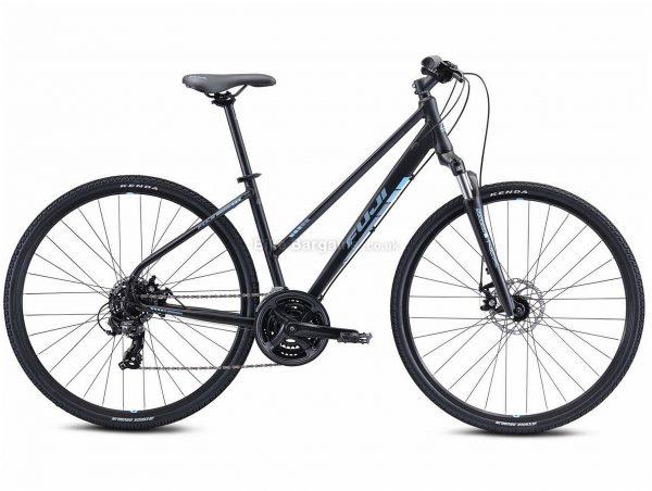 "Fuji Traverse 1.7 ST Alloy Urban City Bike 2021 19"", Black, Alloy Frame, 21 Speed, Disc Brakes, 700c Wheels, Triple Chainring"