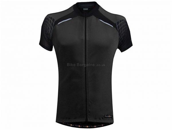 Funkier Force Short Sleeve Jersey S, Blue, Black, Men's, Short Sleeve, Polyester, Elastane