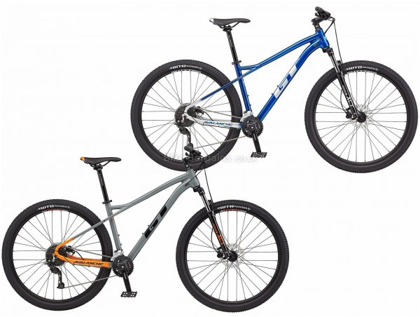 "GT Avalanche Sport Alloy Hardtail Mountain Bike 2021 S, Blue, Grey, Alloy Frame, 18 Speed, Disc Brakes, 29"" Wheels, Double Chainring, Hardtail"