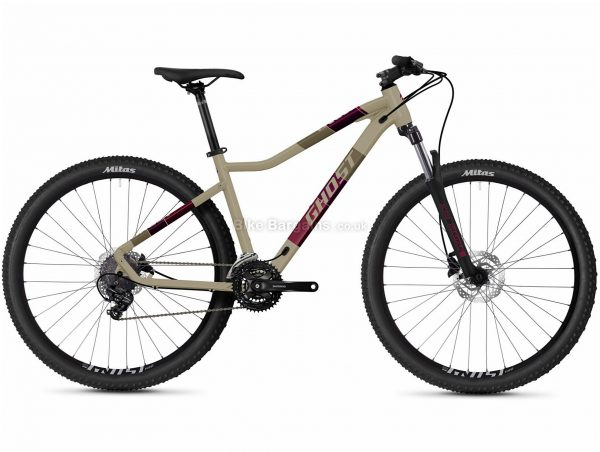 """Ghost Lanao Base 27.5 Alloy Hardtail Mountain Bike 2021 XS, Brown, Alloy Frame, 21 Speed, Disc Brakes, 27.5"""" Wheels, Triple Chainring, Hardtail, 14.7kg"""