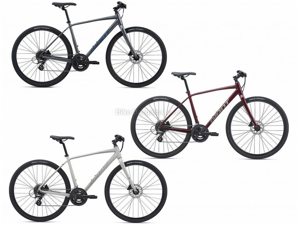 Giant Escape 2 Disc Sports Alloy City Bike 2021 L, Grey, Alloy Frame, 16 Speed, Disc Brakes, 700c Wheels, Double Chainring