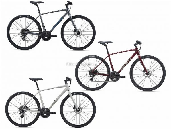 Giant Escape 2 Disc Sports Alloy City Bike 2021 S,M,L,XL, Red, Grey, Alloy Frame, 16 Speed, Disc Brakes, 700c Wheels, Double Chainring