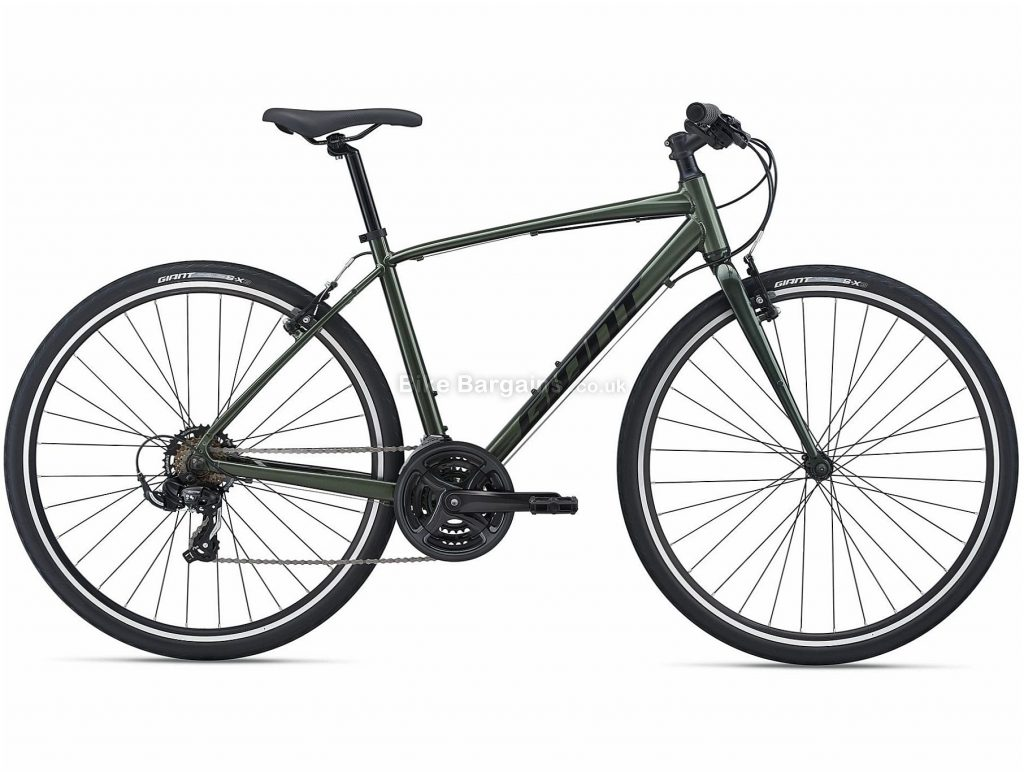 Giant Escape 3 Sports Alloy City Bike 2021 M, Green, Alloy Frame, 21 Speed, Caliper Brakes, 700c Wheels, Triple Chainring