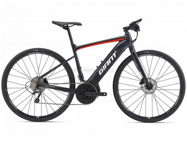 Giant FastRoad E+ 2 Pro Alloy Electric Road Bike 2020 M,L, Black, Red, Alloy Frame, 700c Wheels, Disc Brakes, Double Chainring, Men's, 20 Speed