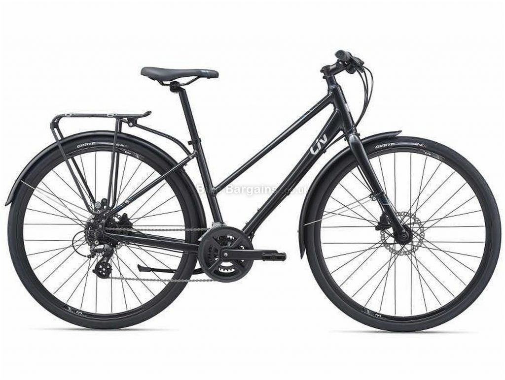 Giant Liv Alight 2 City Disc Ladies Sports Alloy City Bike 2021 M, Black, Alloy Frame, 16 Speed, Disc Brakes, 700c Wheels, Double Chainring
