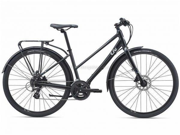 Giant Liv Alight 2 City Disc Ladies Sports Alloy City Bike 2021 M, Black, Alloy Frame, 16 Speed, Disc Brakes, 700c Wheels, Double Chainring