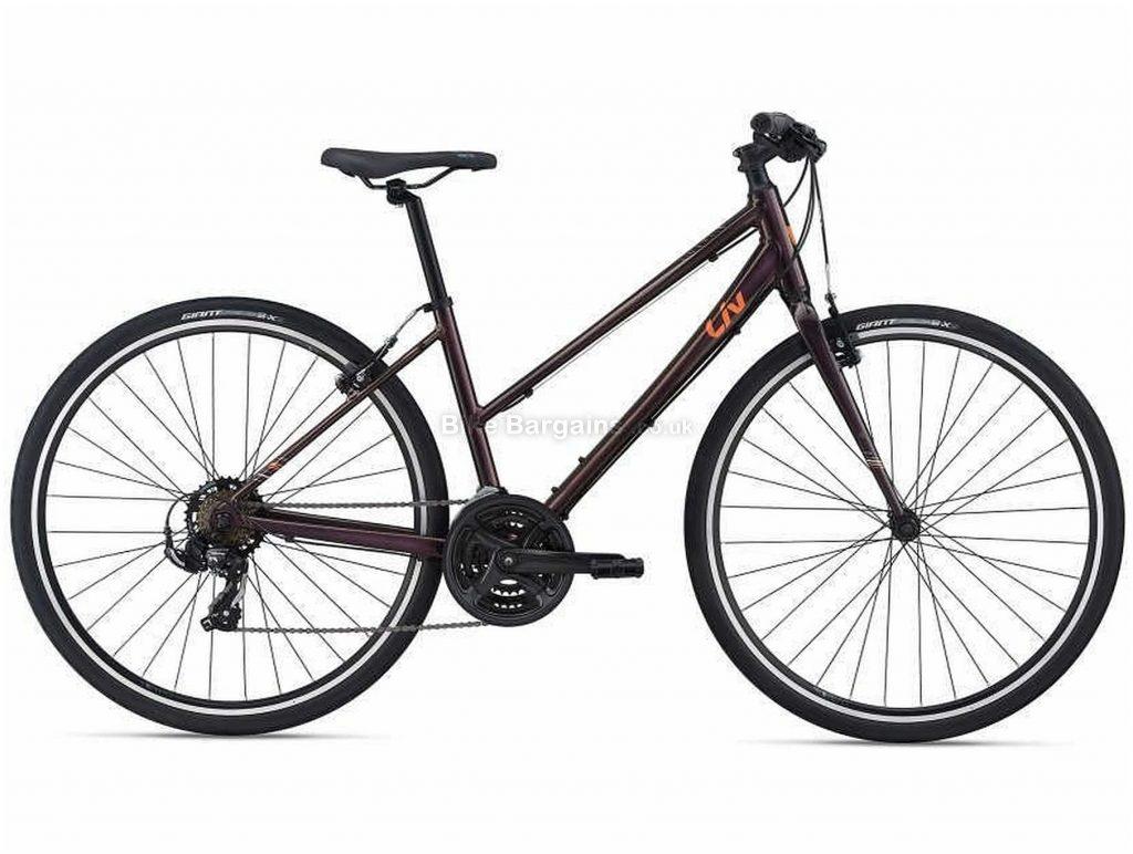 Giant Liv Alight 3 Ladies Sports Alloy City Bike 2021 S, Brown, Alloy Frame, 21 Speed, Caliper Brakes, 700c Wheels, Triple Chainring
