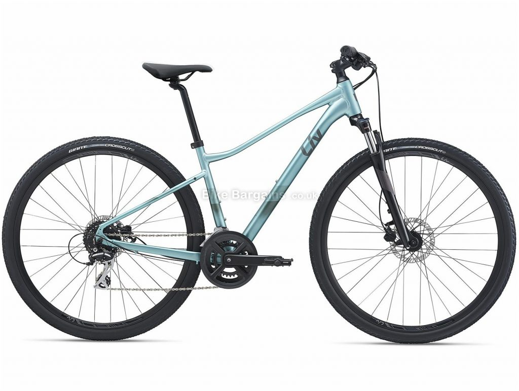 Giant Liv Rove 3 Dd Ladies Sports Alloy City Bike 2021 M, Turquoise, Alloy Frame, 16 Speed, Disc Brakes, 700c Wheels, Double Chainring