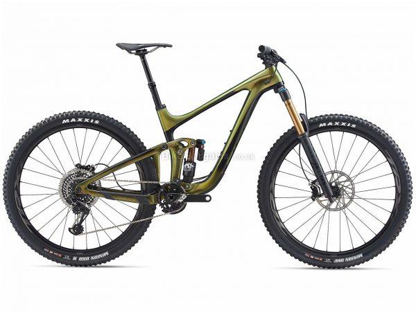 "Giant Reign Advanced Pro 0 29er Carbon Full Suspension Mountain Bike 2020 XL, Green, Black, Carbon Frame, 29"" Wheels, Full Suspension, Disc Brakes, Single Chainring, Men's, 12 Speed"