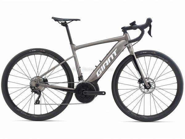 Giant Road E+ 2 Pro Alloy Electric Road Bike 2020 XL, Grey, Black, Alloy Frame, 700c Wheels, Disc Brakes, Double Chainring, Men's, 22 Speed