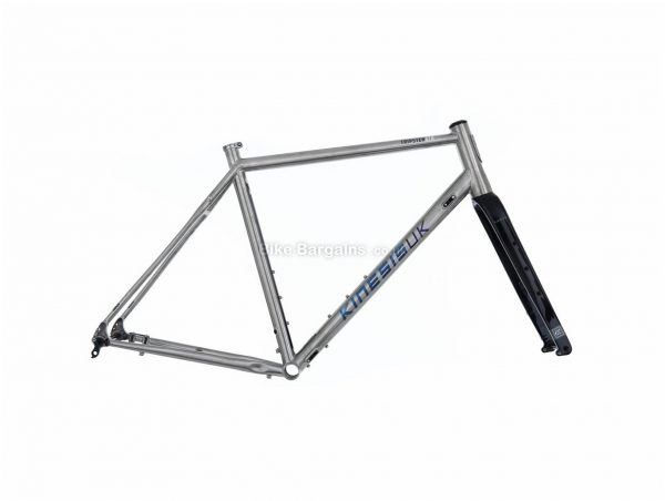 Kinesis Tripster ATR Titanium Road Frame 50cm, 60cm, Silver, Black, 700c, Titanium Frame, Disc, Rigid, 1.88kg