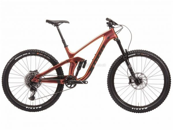"Kona Process 153 Cr/dl 27.5 Carbon Full Suspension Mountain Bike 2020 XL, Brown, Black, Carbon Frame, 27.5"" Wheels, Full Suspension, Disc Brakes, Single Chainring, Men's, 12 Speed"