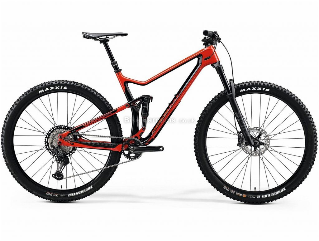 "Merida One Twenty 7000 27.5"" Trail Carbon Full Suspension Mountain Bike 2020 L, Red, Black, Carbon Frame, 27.5"" Wheels, Full Suspension, Disc Brakes, Single Chainring, Men's, 12 Speed"