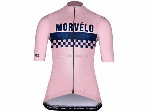 Morvelo Ladies Standard Hainault Short Sleeve Jersey XXL, Pink, Blue, Ladies, Short Sleeve, Polyester