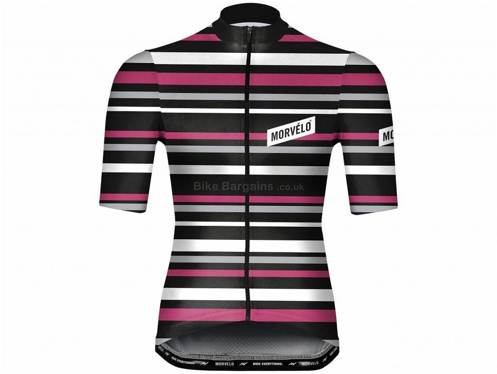 Morvelo Solo Short Sleeve Jersey XS,S,M,L,XL,XXL, Black, Pink, White, Men's, Short Sleeve, Polyester
