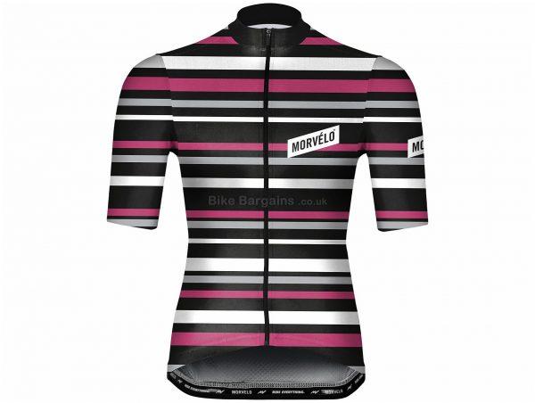 Morvelo Solo Short Sleeve Jersey XXL, Black, Pink, White, Men's, Short Sleeve, Polyester