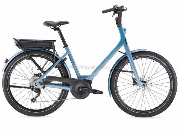 "Moustache Lundi 26.1 Alloy Electric City Bike 2020 M, Blue, Alloy Frame, 26"" Wheels, Disc Brakes, Single Chainring, Ladies, 9 Speed, 23.3kg"