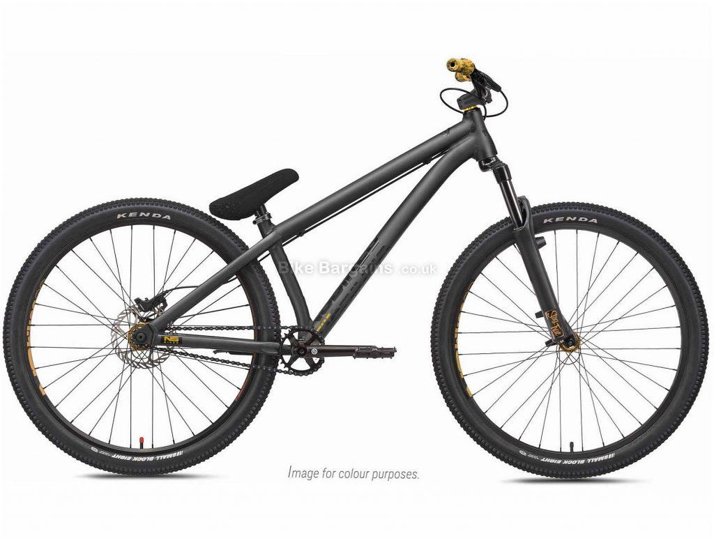 "NS Bikes Movement 3 Steel Dirt Jump Bike 2021 S, Black, Green, Steel Frame, Single Speed, Disc Brakes, 26"" Wheels, Single Chainring, Hardtail, 13.1kg"