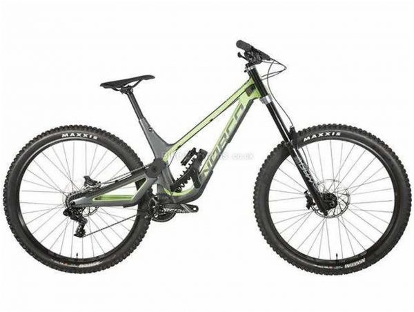 "Norco Aurum HSP C2 29 Carbon Full Suspension Mountain Bike 2020 L, Grey, Green, Black, Carbon Frame, 29"" Wheels, Full Suspension, Disc Brakes, Single Chainring, Men's, 7 Speed"