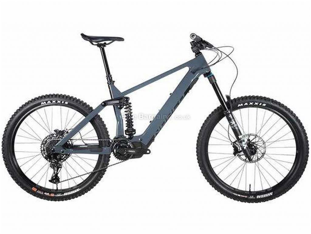 "Norco Range VLT C2 Carbon Full Suspension Electric Mountain Bike 2020 M, Blue, Black, Carbon Frame, 27.5"" Wheels, Full Suspension, Disc Brakes, Single Chainring, Men's, 12 Speed, 23.4kg"