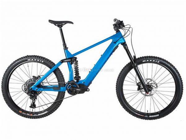 "Norco Range VLT C3 Carbon Full Suspension Electric Mountain Bike 2020 M, Blue, Black, Carbon Frame, 27.5"" Wheels, Full Suspension, Disc Brakes, Single Chainring, Men's, 12 Speed, 23.6kg"