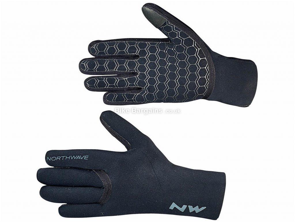 Northwave Storm Neoprene Gloves S, Black, Men's, Full Finger, Neoprene, Polyester
