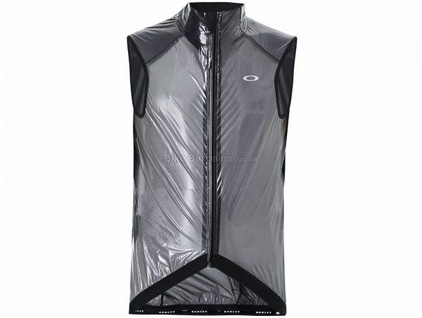 Oakley Jawbreaker Road Gilet XL, Transparent, Black, Men's, Sleeveless, Polyamide