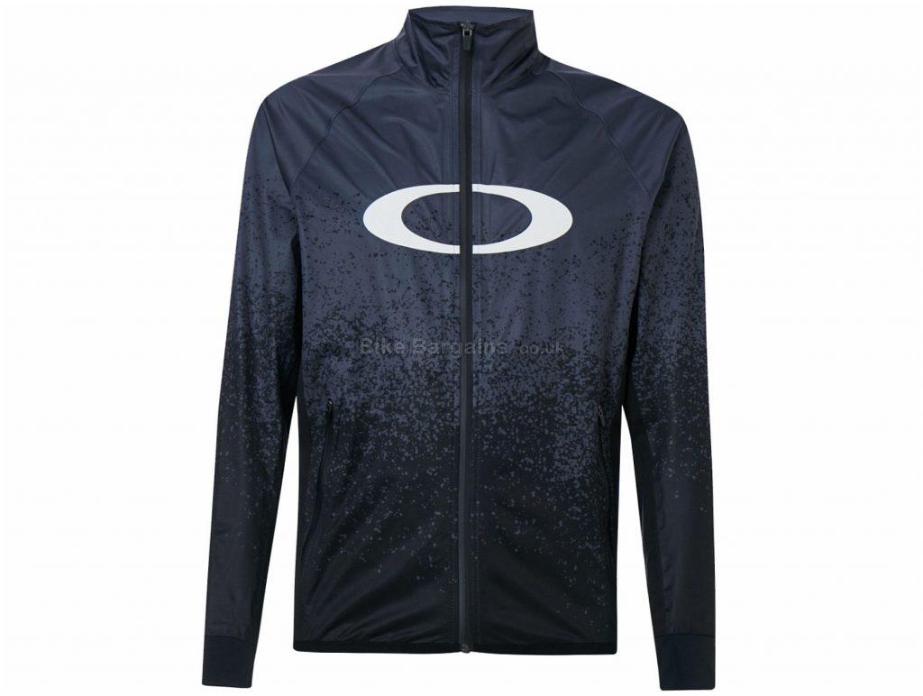 Oakley MTB Jacket L, Grey, Black, Men's, Long Sleeve, Polyester