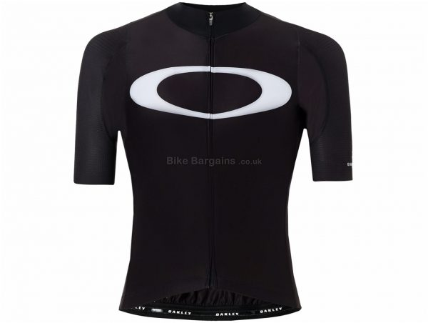 Oakley Premium Road Short Sleeve Jersey XL, Black, White, Men's, Short Sleeve, Nylon, Elastane