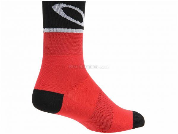 Oakley Red Line Cycling Socks S, Red, Black, Unisex, Polyester, Elastane, Polypropylene