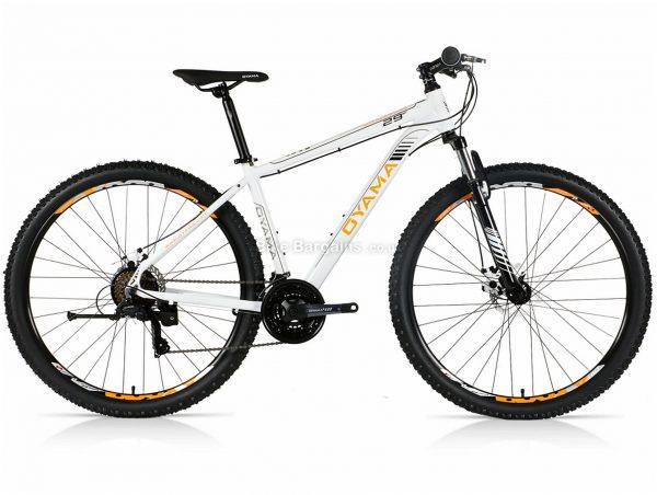 "Oyama Freedom 29er Alloy Hardtail Mountain Bike 20"", White, Orange, Black, Yellow, 29"", Alloy Frame, 21 Speed, Hardtail, Front Suspension, Triple Chainring, Disc"