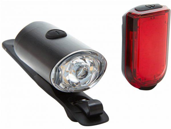 PBK 300L & 20L Light Set 300 Lumens, 20 Lumens, Black, White, Red, Front & Rear, 71g, Nylon, Silicone