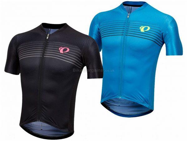 Pearl Izumi P.R.O. Pursuit Speed Short Sleeve Jersey M,L, Black, Men's, Short Sleeve, 190g, Polyester, Elastane
