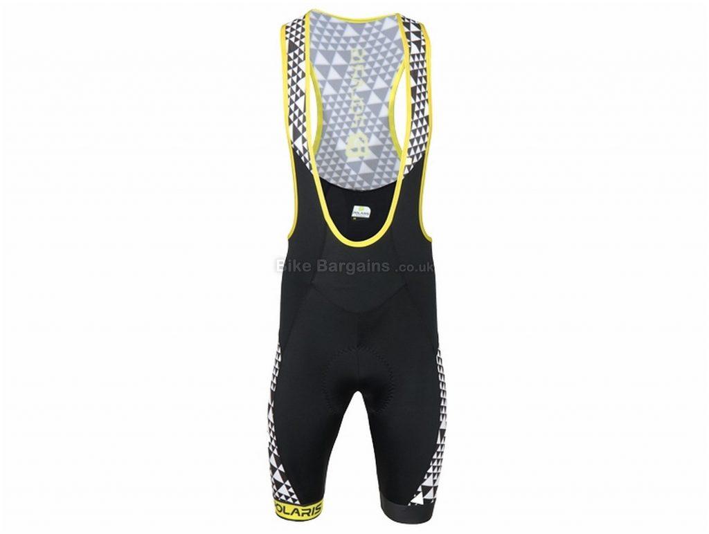 Polaris Geo Road Bib Shorts S, Blue, Black, Men's, Lycra